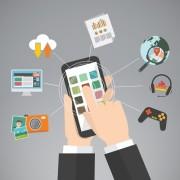 whatsapp, google hands, messenger